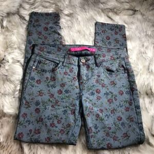 Tinseltown Denim Couture floral print skinny jeans